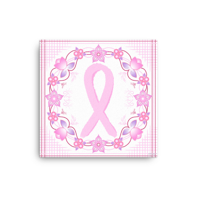 Floral Cancer Ribbon